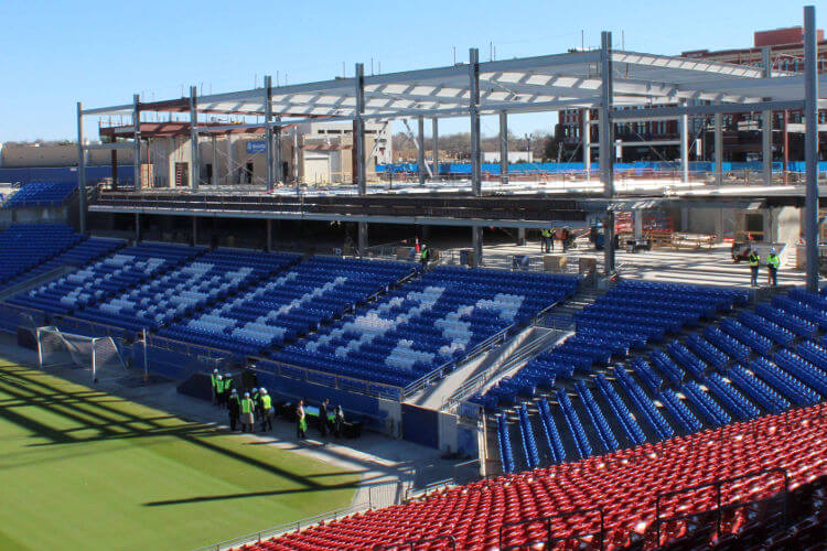 FC Dallas Stadium made by Advantage Steel Service